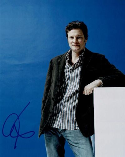 Colin Firth Autograph Signed Photo For Sale
